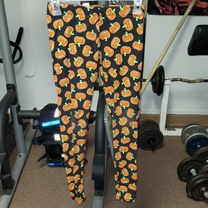 No Boundaries jrs sz xs pumpkin Halloween leggings